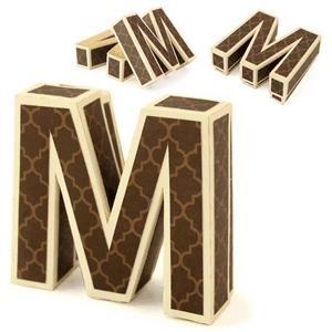 Silhouette Design Store View Design 30049 3d M Letter Box
