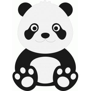 Silhouette Design Store View Design 53449 cute panda
