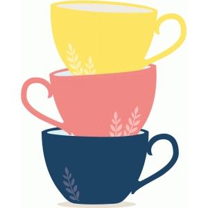 Silhouette Design Store View Design 78649 Tea Cups