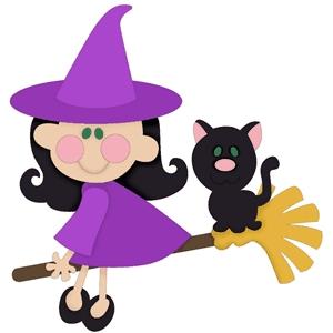 Silhouette Design Store - View Design #22459: cute witch
