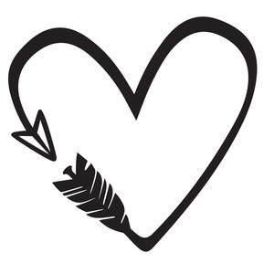 silhouette design store view design 177769 heart arrow. Black Bedroom Furniture Sets. Home Design Ideas