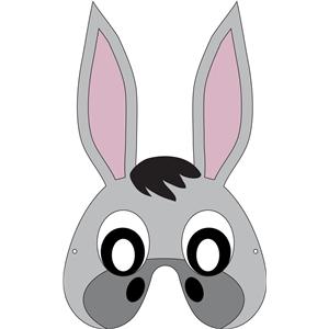 32269 on Donkey Mask Template