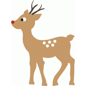 Silhouette design store view design 70869 rudolph the for Rudolph the red nosed reindeer template