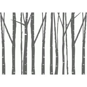 Silhouette Design Store View Design 70879 Birch Trees