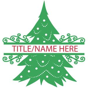 silhouette design store view design 160699 christmas tree split title