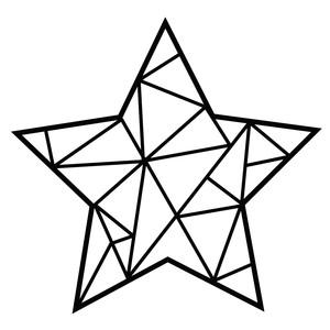Silhouette Design Store View Design 191599 Geometric Star