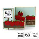 pop up box card apples