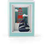 lighthouse shadow box card