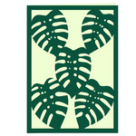 tropical monstera plant card