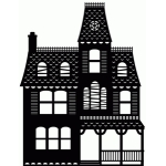 haunted house 1 piece silhouette