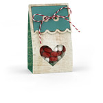 heart window treat wrap