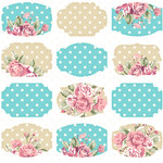 shabby chic stickers