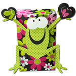 frog holding hearts box