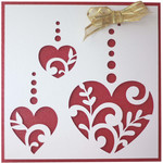 5x5 flourish hearts card