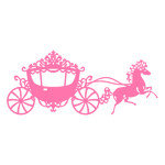 princess carriage fanciful horse