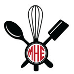 baking utensil monogram frame