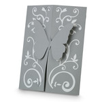 a2 filigree double fold butterfly card