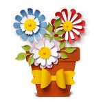 flower pot (folded card)