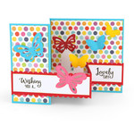 pop up box card butterflies