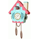 cuckoo clock with leaves