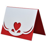 scalloped edge heart card
