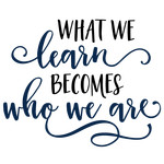 what we learn becomes phrase
