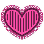 striped valentine heart