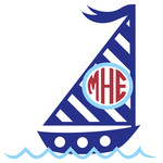 sailboat monogram frame