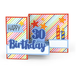pop up box card birthday age 30