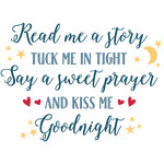 read story tuck tight sweet prayer kiss goodnight