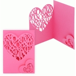 'x o' heart pocket card
