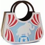 circle handle elephant purse