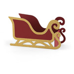 santa sleigh favor box