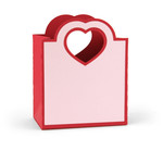 heart handle favor bag
