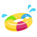 inner tube with splash