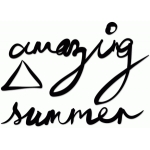 hand-inked 'amazing summer' title set