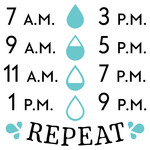 water bottle decal chart