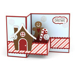 pop up box card gingerbread