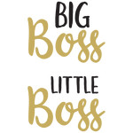 baby t-shirt set: big boss little boss