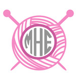 knitting monogram frame