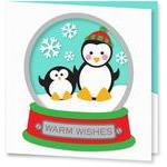 penguin snowglobe card