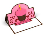 a2 happy birthday cupcake easel card