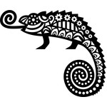 tribal chameleon