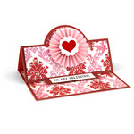 a2 easel card valentine rosette