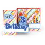 pop up box card birthday age 3