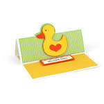 a2 easel card baby rubber duck