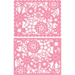 a2 floral lace card front