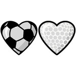 soccer and golf hearts set