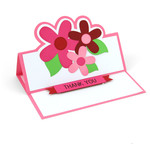 a2 flowers easel card