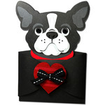 boston terrier- variation2- hug gift card holder